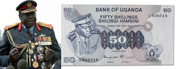 Idi Amin and inflated Ugandan money