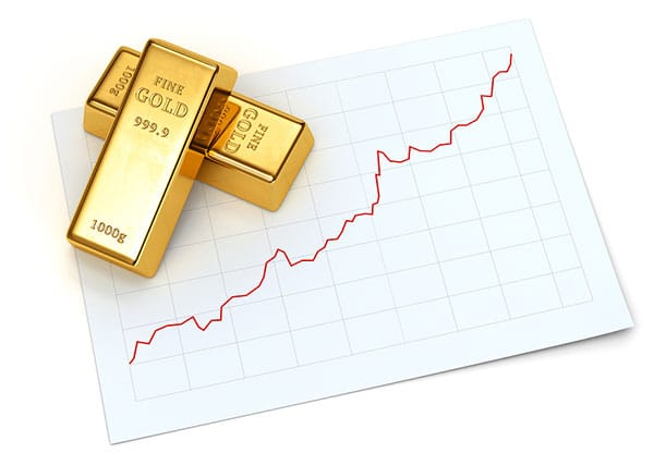 Gold investment appreciating over time